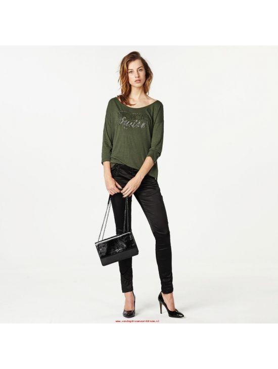 Pepe Jeans v khaki barvě MARION T-SHIRT 1