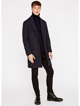 Vlněný kabát Pepe Jeans TIAGO