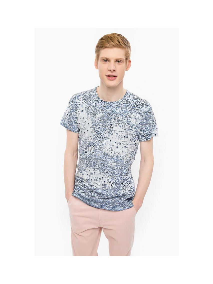 Pánské modro-bíle tričko Pepe Jeans ERNEST T-SHIRT - 919 CONCEPT STORE 2bdbdb55ba