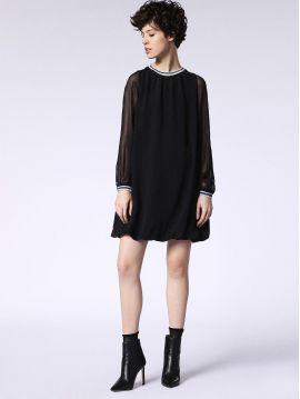 Černé šaty s rukávy Diesel D-BELINDAa