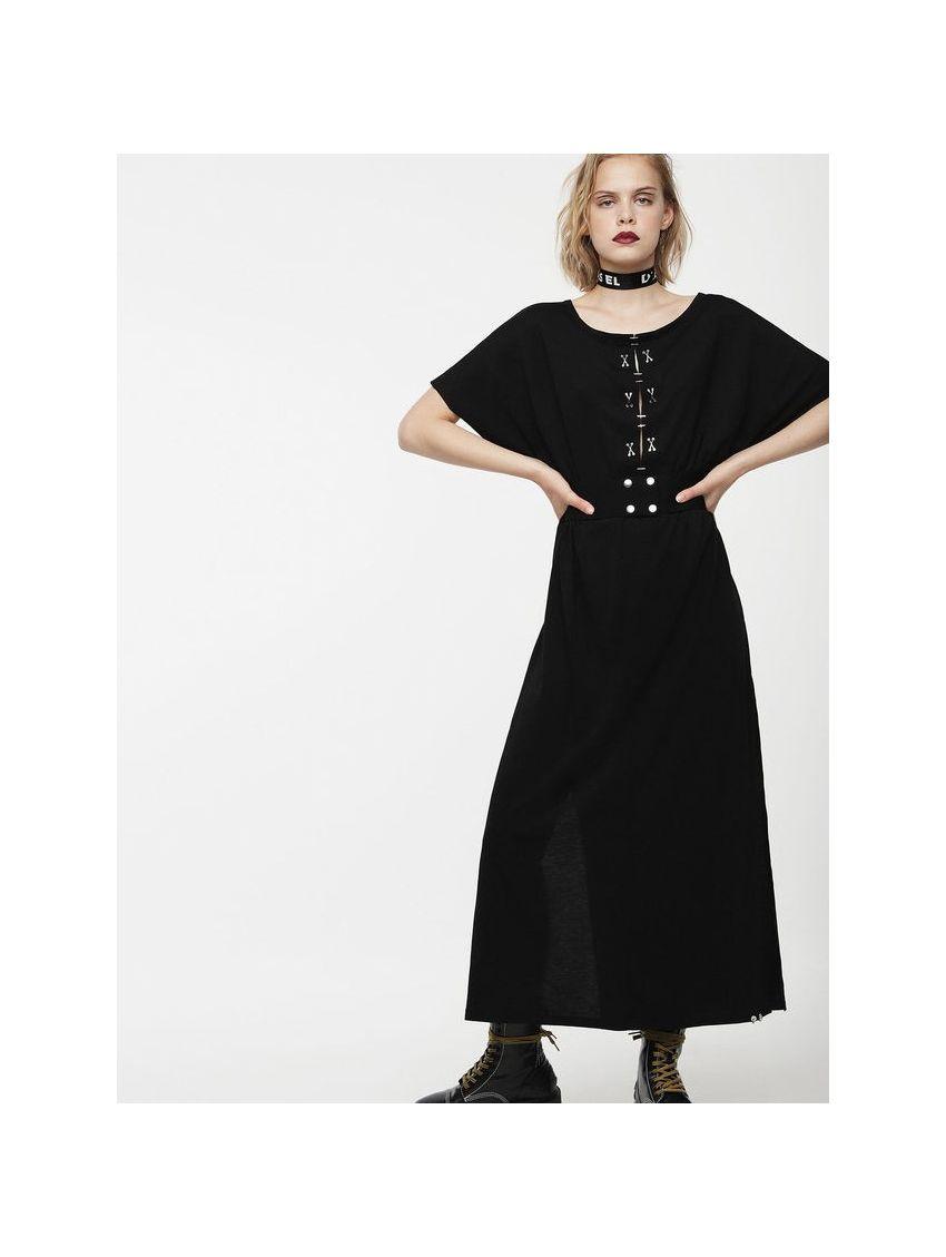Dlouhé černé šaty s páskem Diesel D-ALBA - 919 CONCEPT STORE 347f282433
