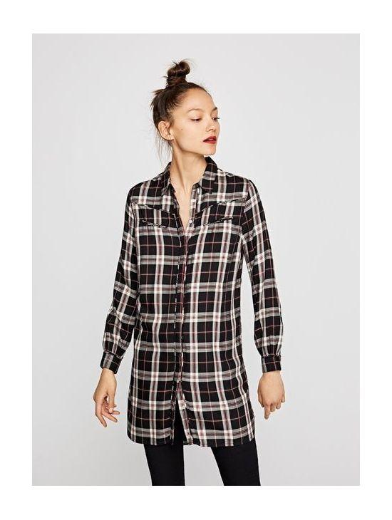 Kostkované košilové šaty Pepe Jeans ALONA - 919 CONCEPT STORE 7d24db2193