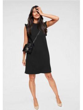 Černé šaty s volánky Pepe Jeans FALABALA