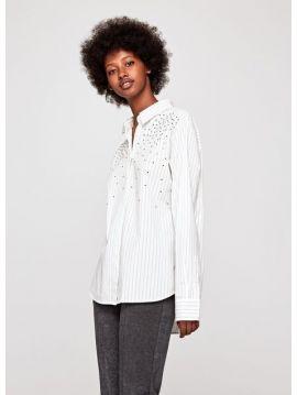 Bílá pruhovaná dámská košile Pepe Jeans AYA