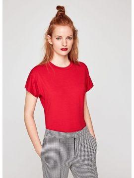 Dámské červené body triko Pepe Jeans VALERIA