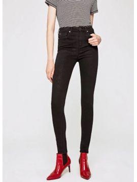 cf29e35547f Dámské slim černé džíny s vyšším pasem Pepe Jeans DION DON