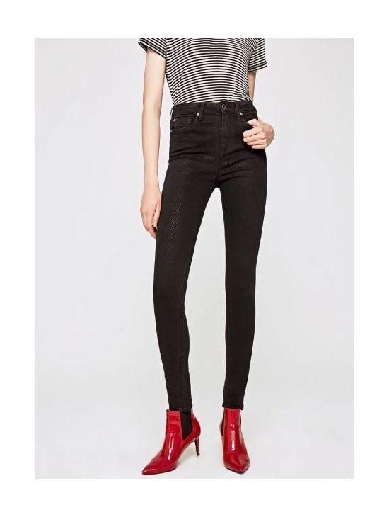 Dámské slim černé džíny s vyšším pasem Pepe Jeans DION DON - 919 CONCEPT  STORE 72dec85581