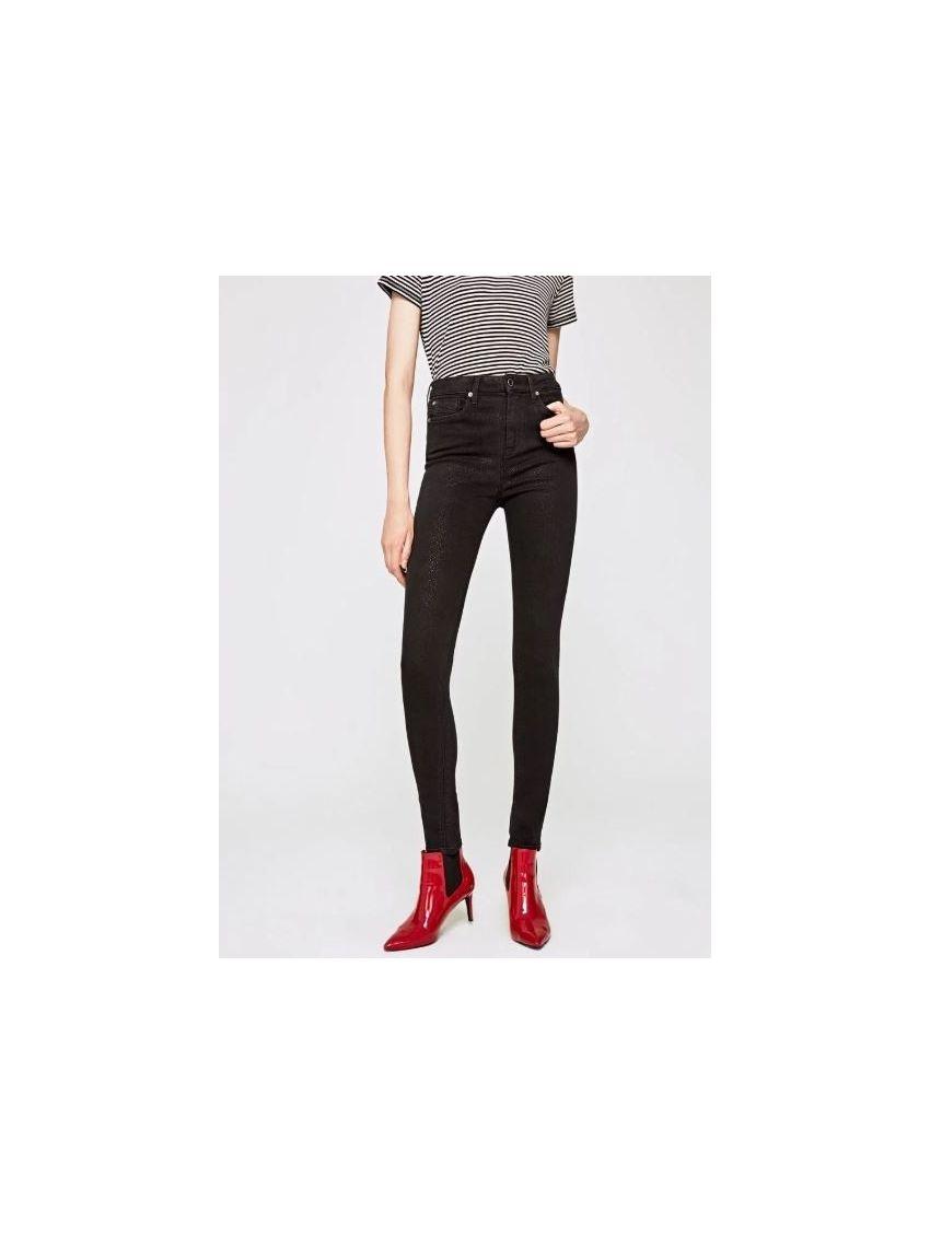 Dámské slim černé džíny s vyšším pasem Pepe Jeans DION DON. Loading zoom d6f2b88da9
