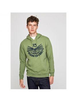 Pánská zelená bavlněná mikina Pepe Jeans BERNARD