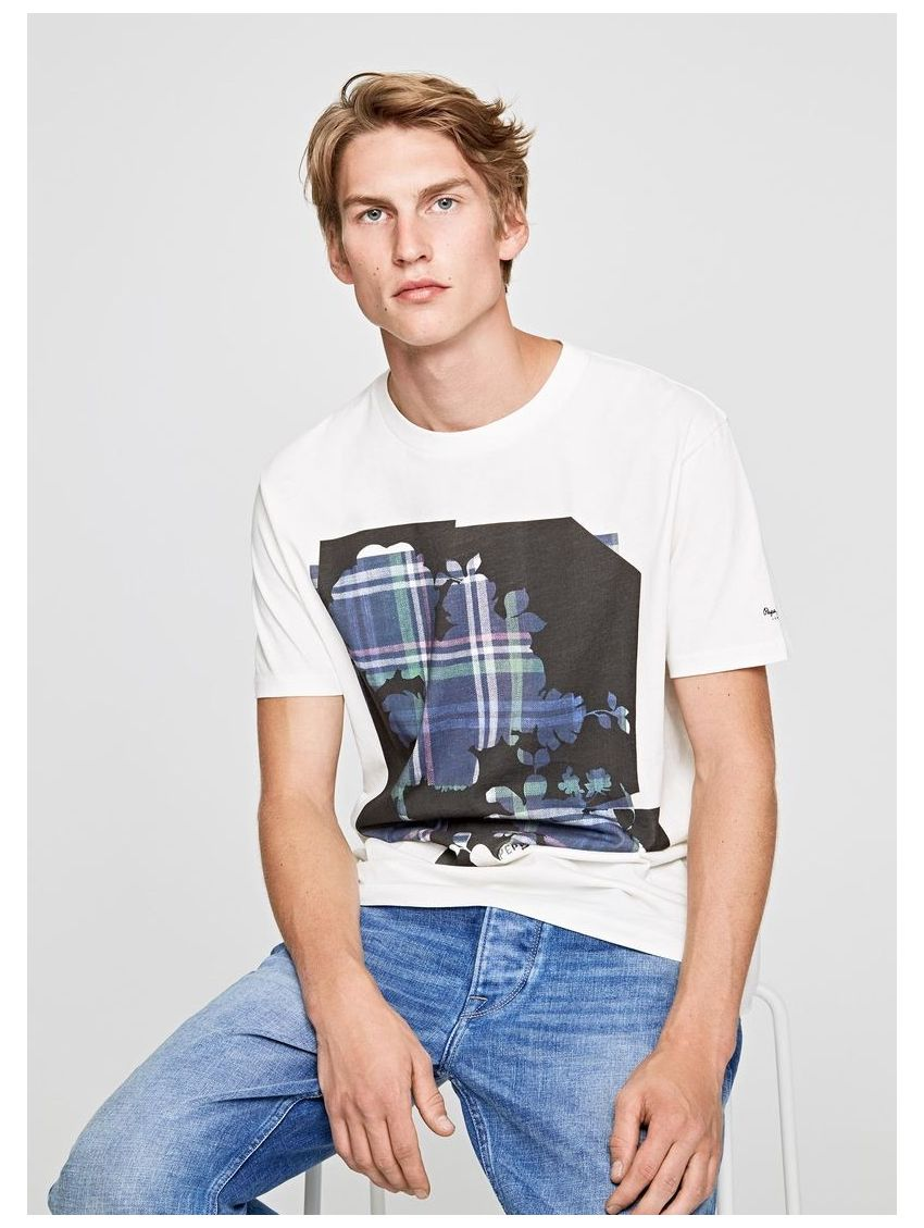 Pánské bílé triko s potiskem Pepe Jeans HEYDON - 919 CONCEPT STORE e760bf1d06