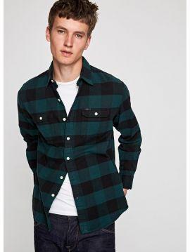 Zelená kostkovaná pánské košile Pepe Jeans JUDE