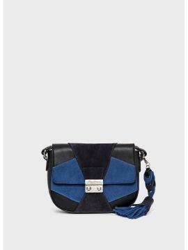 Modrá patchwork kabelka Pepe Jeans LAINA
