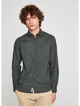 Pánská zelená košile se vzorem Pepe Jeans MONTAGUE