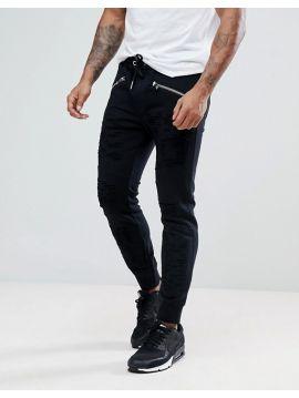 Pánské černé teplákové kalhoty Diesel P-WESTIN