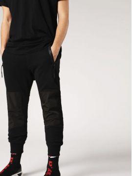 Pánské černé teplákové kalhoty Diesel P-GRAND