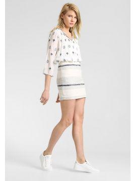 Světlá mini sukně s pruhy Pepe Jeans MANDY