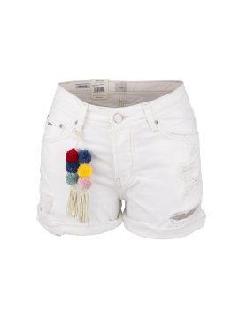 Dámské kraťasy bílé od Pepe Jeans THRASHER SHORT