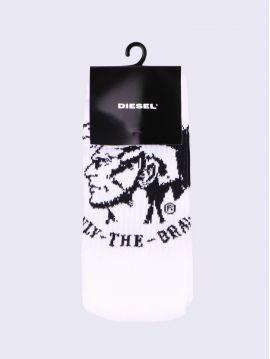 Bílé ponožky Diesel s mohykánem SKM RAY