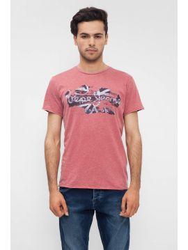 Růžové tričko s potiskem Pepe Jeans ROBINIA T-SHIRT