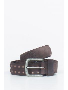 Pánský okovaný hnědý opasek Pepe Jeans KIRK