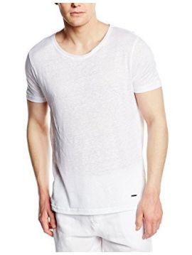 Tričko Calvin Klein LINEN V NECK