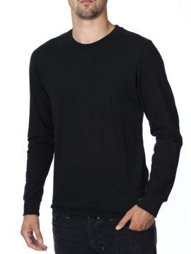 Pánské černé triko dlouhý rukáv Diesel T-RAPID