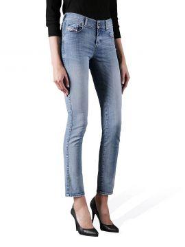 Světlé džíny s vyšším pasem Diesel SANDY 0667E