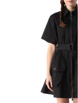 Bavlněné černé šaty Diesel D-MANET