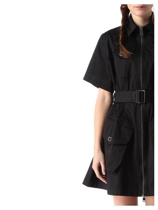 ddb83f1b202 Bavlněné černé šaty Diesel D-MANET - 919 CONCEPT STORE