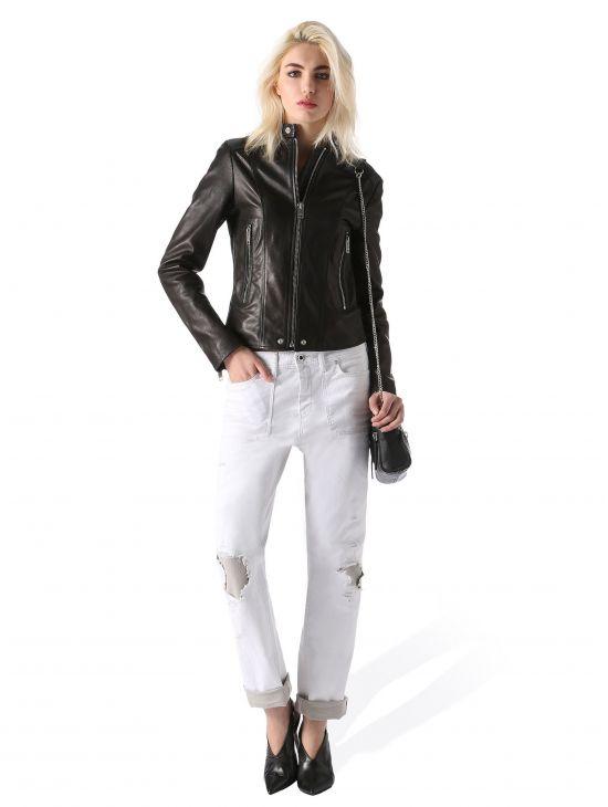 Bíle džíny s trháním Diesel REEN-PATCHa
