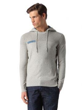 Lehký šedý svetr s kapucí Diesel K-BASISa