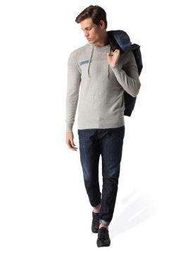 Lehký šedý svetr s kapucí Diesel K-BASIS