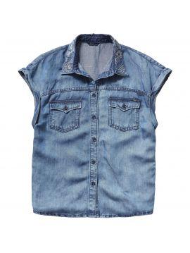 Dámská košile modré barvy Pepe jeans BANDITA SHIRT