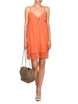 Bavlněné šaty s krajkou Pepe Jeans NATI