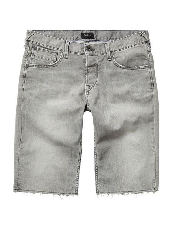 872df358b4c4 Pánské šedé džínové kraťasy Pepe Jeans CHAP - 919 CONCEPT STORE