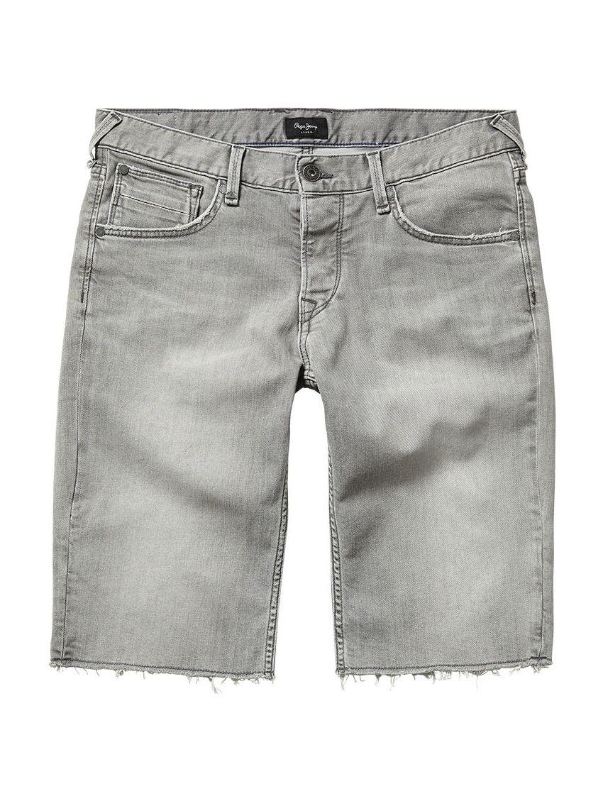 Pánské šedé džínové kraťasy Pepe Jeans CHAP - 919 CONCEPT STORE 626b3dc6b1