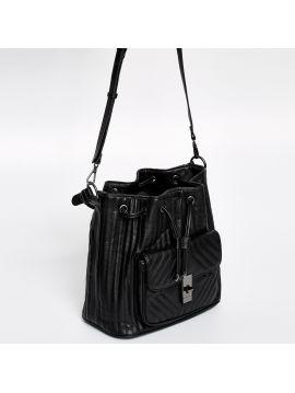 Černá stahovací kabelka Pepe Jeans REINE