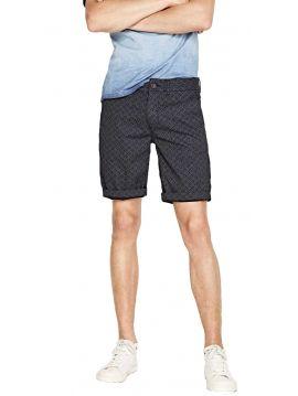 Bavlněné tmavomodré kraťasy se vzorem Pepe Jeans BLACKBURN