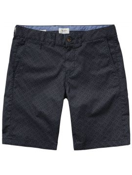 Bavlněné tmavomodré kraťasy se vzorem Pepe Jeans BLACKBURNc
