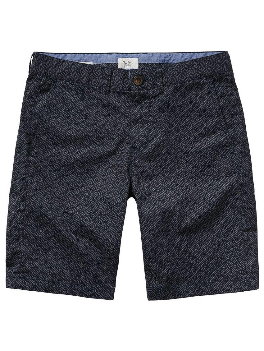 Bavlněné tmavomodré kraťasy se vzorem Pepe Jeans BLACKBURNc. Loading zoom 1dd62a0212